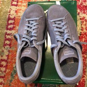 Puma women's blue suede shoes